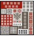 Ethnographic ornaments vector image