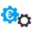 Euro Mechanics Flat Icon vector image vector image