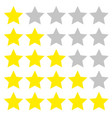 Five star rating different ranks vector image