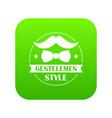 gentlemen style icon green vector image vector image