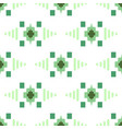 geometric eastern grid motif green and white vector image