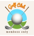 Golf club emblem vector image