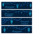 Greeting cards with decorative lanterns and lights vector image vector image
