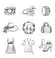 hand drawn fashion icons vector image vector image