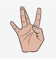 hip-hop hand gesture vector image vector image