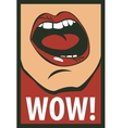 human mouth screaming wow vector image