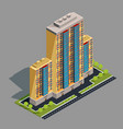 isometric 3d of modern urban vector image vector image