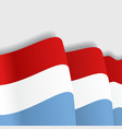 Luxembourg waving Flag vector image vector image