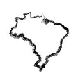 map of brazil cartography geography tourism travel vector image