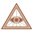 masonic seeing eye in triangle sign magic symbol vector image