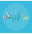 medical equipment flat web and print of scalpel vector image