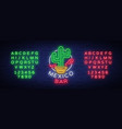 mexican bar is a neon-style logo neon sign vector image vector image