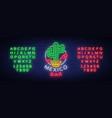 mexican bar is a neon-style logo neon sign vector image vector image