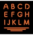 Neon Tube Letters Glowing Font vector image vector image