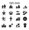 park icon set vector image vector image