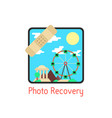 photo recovery with medical plaster vector image vector image