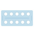 pills in a blister pack icon flat isolated vector image vector image