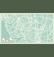 porto portugal city map in retro style vector image vector image