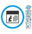 Pray Calendar Flat Icon With Bonus vector image vector image