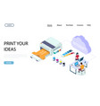 print shop services website landing page vector image vector image