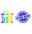 rainbow colored pixelated chemical test vector image vector image