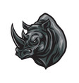 rhino head logo design icon vector image vector image