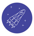 rocket icon in thin line style vector image