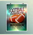 rugby championship cup flyer template vector image