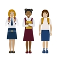 School girls flat vector image vector image