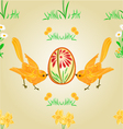 Seamless texture birds and easter eggs vector image vector image