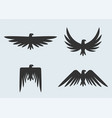 set eagle silhouettes eagles logo vector image