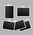 set of template photo frames with shadow on vector image vector image
