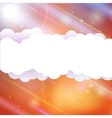 Sky clouds and sun with rays vector image vector image