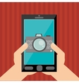 Smartphone design Media icon Flat vector image vector image