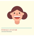 Smiley woman avatar icon in flat style vector image vector image