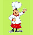 smiling cook cartoon vector image