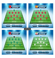 soccer team player plan group b with flags vector image