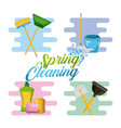 spring cleaning service tools for cleanliness and vector image