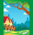 spring theme landscape 3 vector image vector image