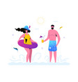 summer vacation - modern flat design style vector image vector image