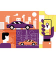 taxi service online mobile application concept vector image vector image