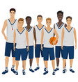 the young basketball vector image