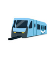underground train locomotive subway transport vector image vector image