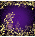 Vintage violet frame vector | Price: 1 Credit (USD $1)