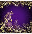 Vintage violet frame vector image vector image