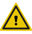 warning icon triangle warning icon in flat style vector image vector image