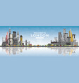 welcome to london england skyline with gray vector image vector image