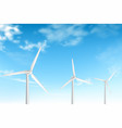 wind turbines on electric station realistic vector image
