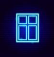 window neon sign vector image