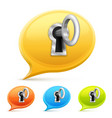 key for a chat set vector image